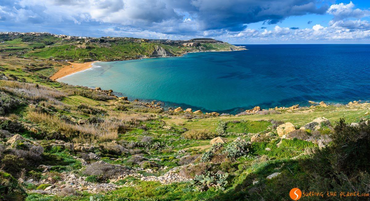 Vistas de Ramla Bay, Gozo, Malta | 25 cosas que ver y hacer en Gozo en 2 días