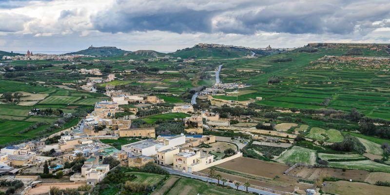 Vistas desde la Ciudadela, Victoria, Gozo, Malta
