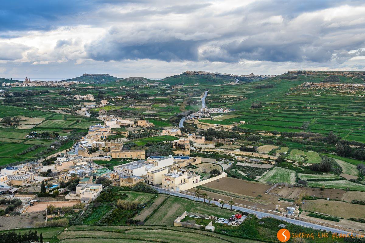 Vistas desde la Ciudadela, Victoria, Gozo, Malta   Qué visitar en Malta en 3 días