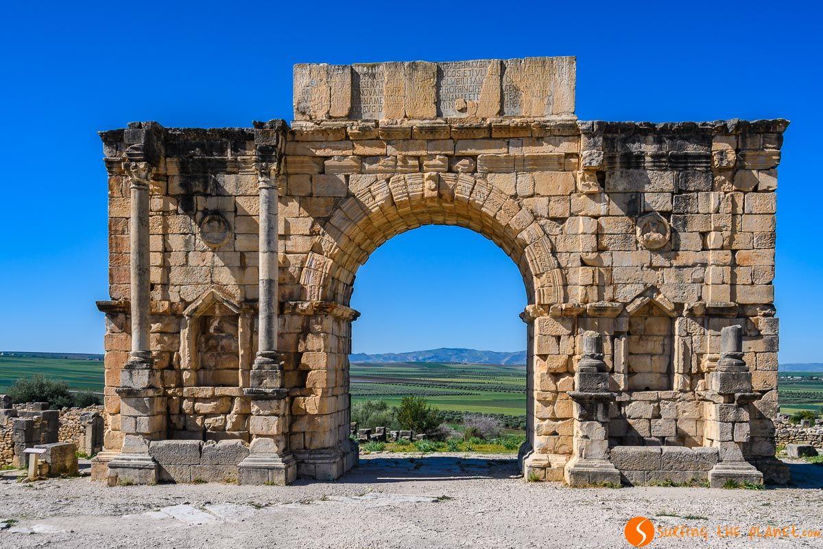 Arco de triunfo de Carcalla, Volubilis, Marruecos