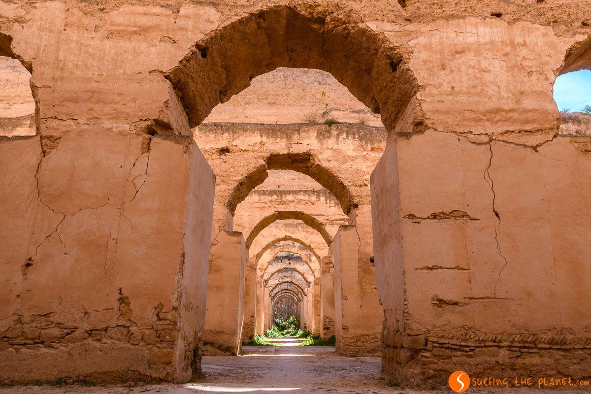 Caballerías del palacio, Meknes, Marruecos