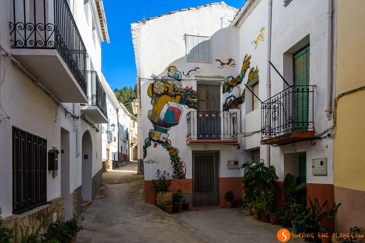 Arte urbano, Fanzara, Provincia de Castellón, Comunidad Valenciana, España