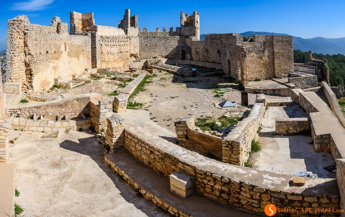 Interior del Castillo de Xivert, Provincia de Castellón, Comunidad Valenciana