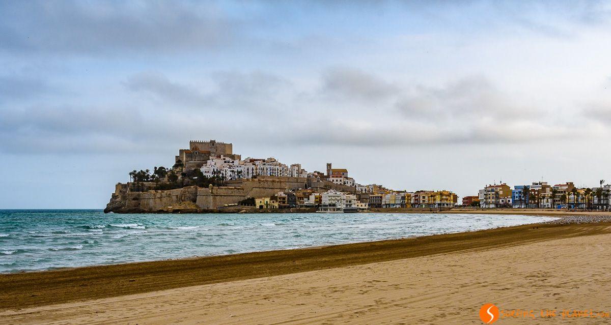 Vista panorámica, Peñíscola, Provincia de Castellón, Comunidad Valenciana, España