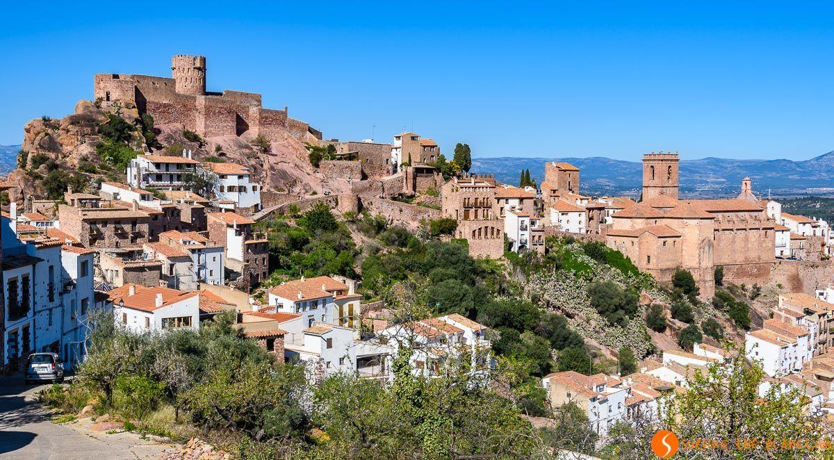 Vista panorámica, Vilafamés, Provincia de Castellón, Comunidad Valenciana, España