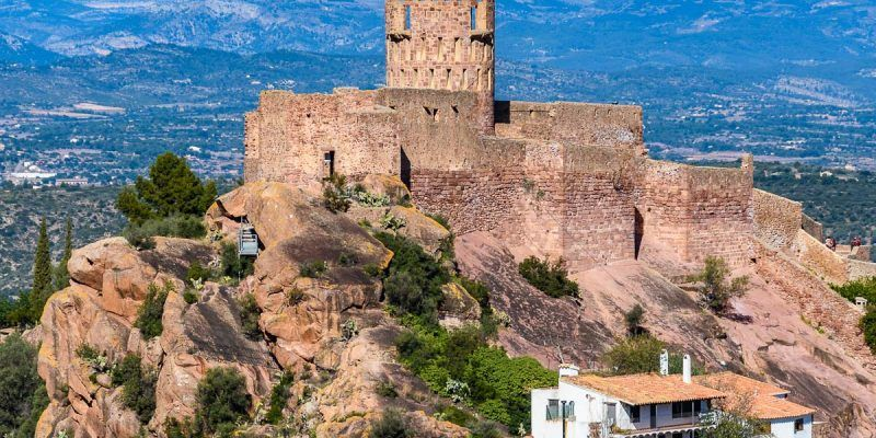 Vista panorámica, Castillo de Vilafamés, Provincia de Castellón, Comunidad Valenciana