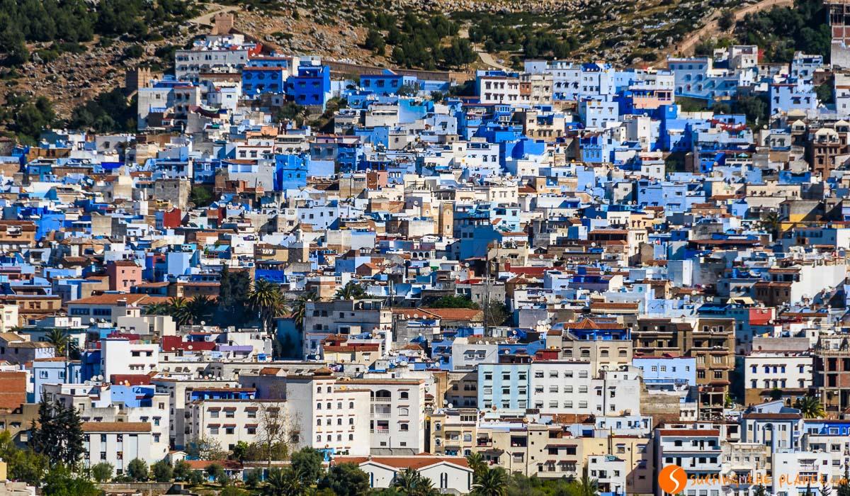 Vistas panorámicas, Chefchaouen, Marruecos