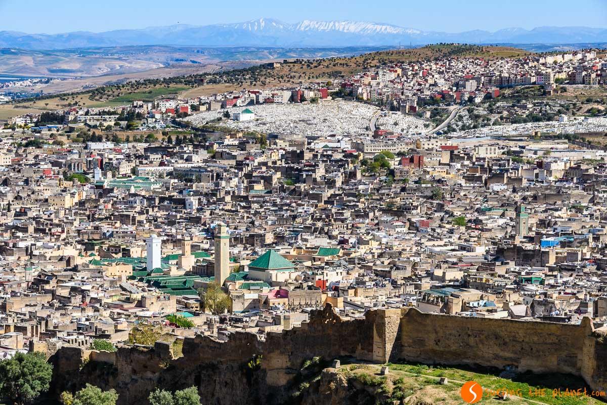 Vistas panorámicas, Fez, Marruecos