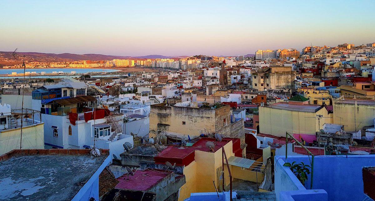 Vistas de Tánger, Marruecos