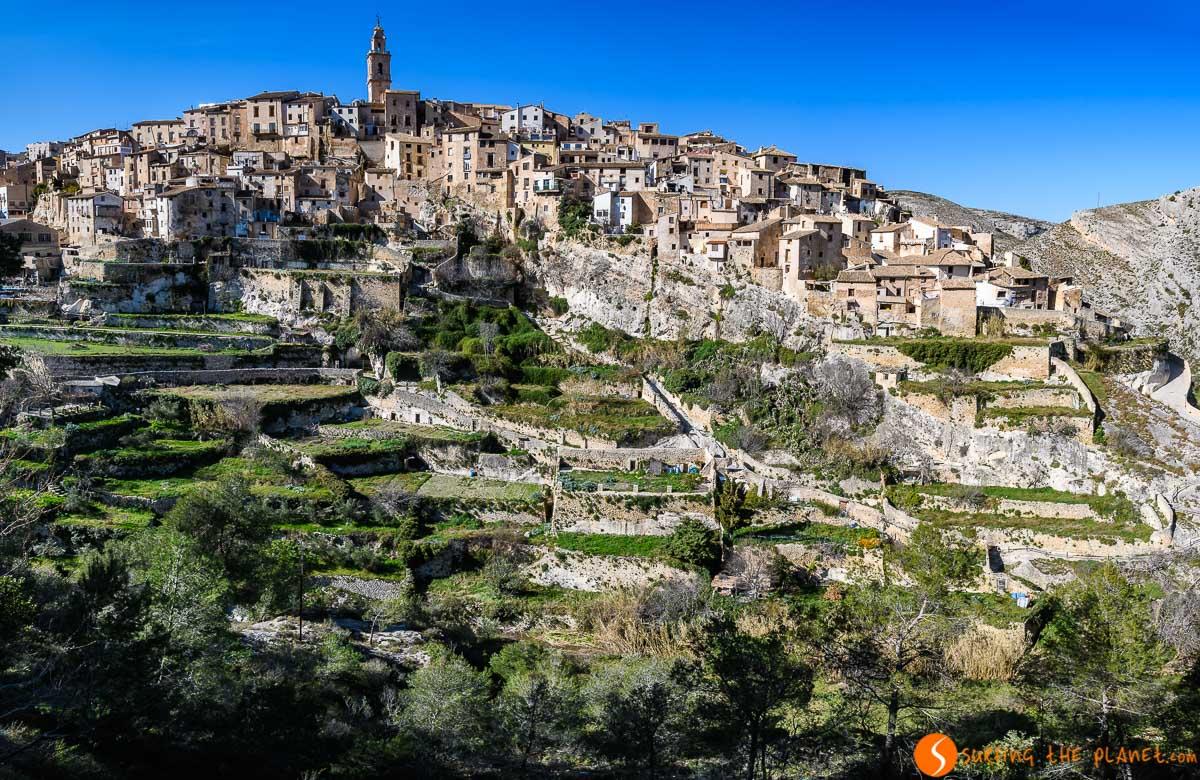 Vista panorámica, Bocairent, Provincia de Valencia, Comunidad Valenciana
