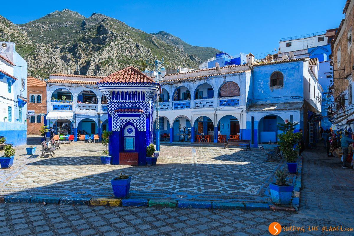 Plaza bonita, Chefchaouen, Marruecos