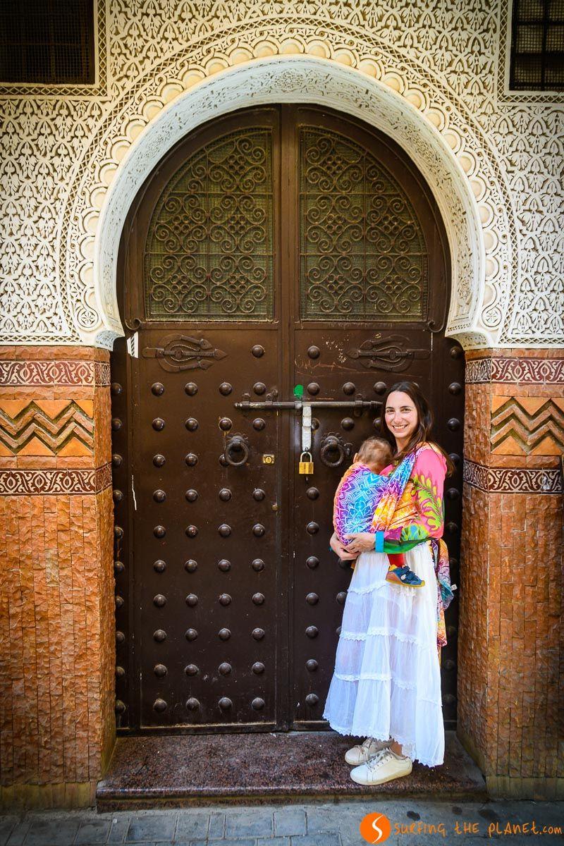 Puerta en la Medina, Meknes, Marruecos
