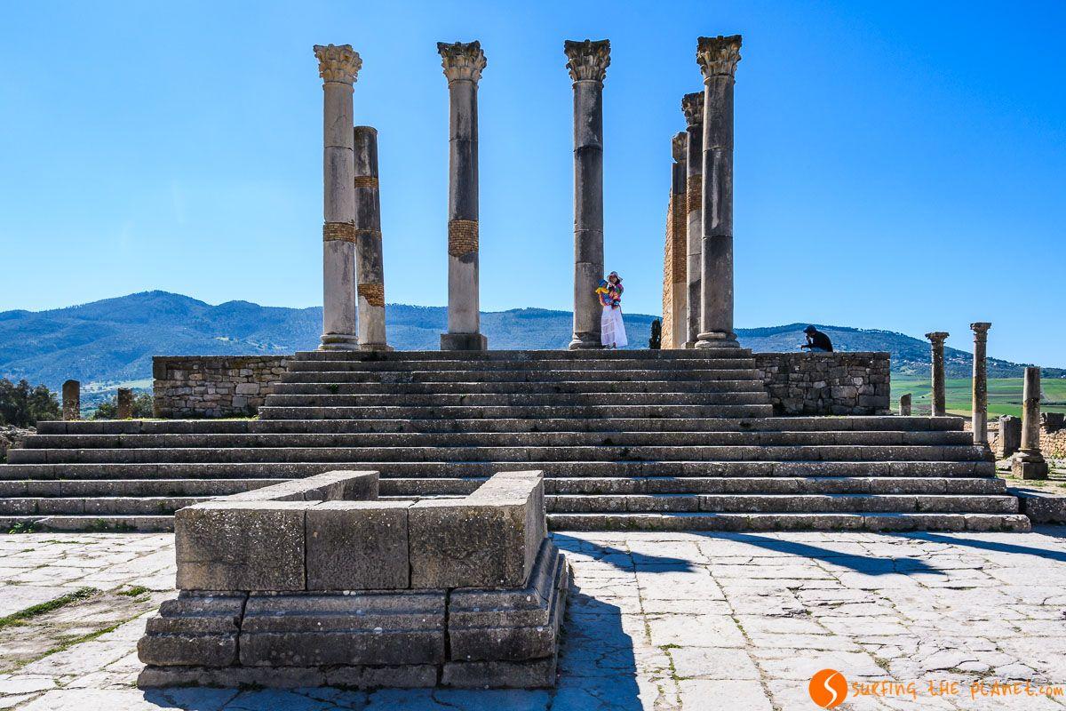 Templo de Jupiter, Volubilis, Marruecos  Las 5 mejores excursiones desde Fez