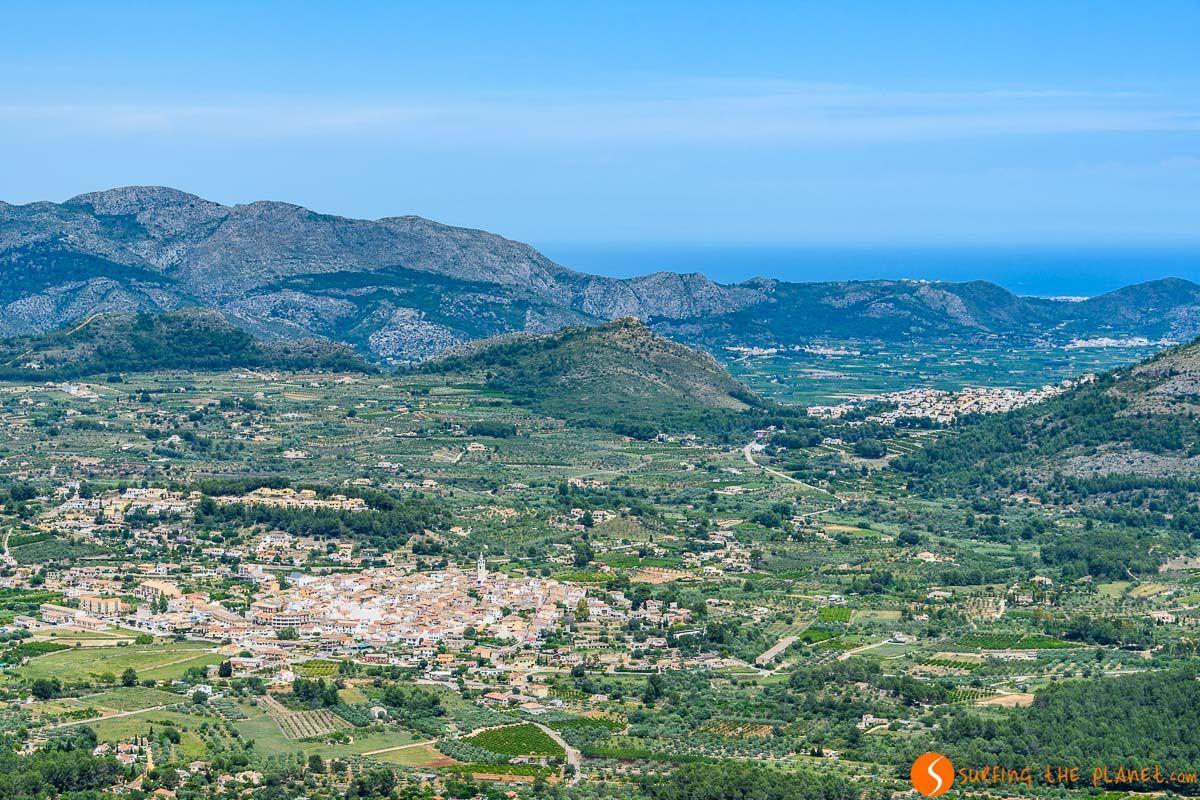 Vistas de Valle de Pop, Alicante, Comunidad Valenciana