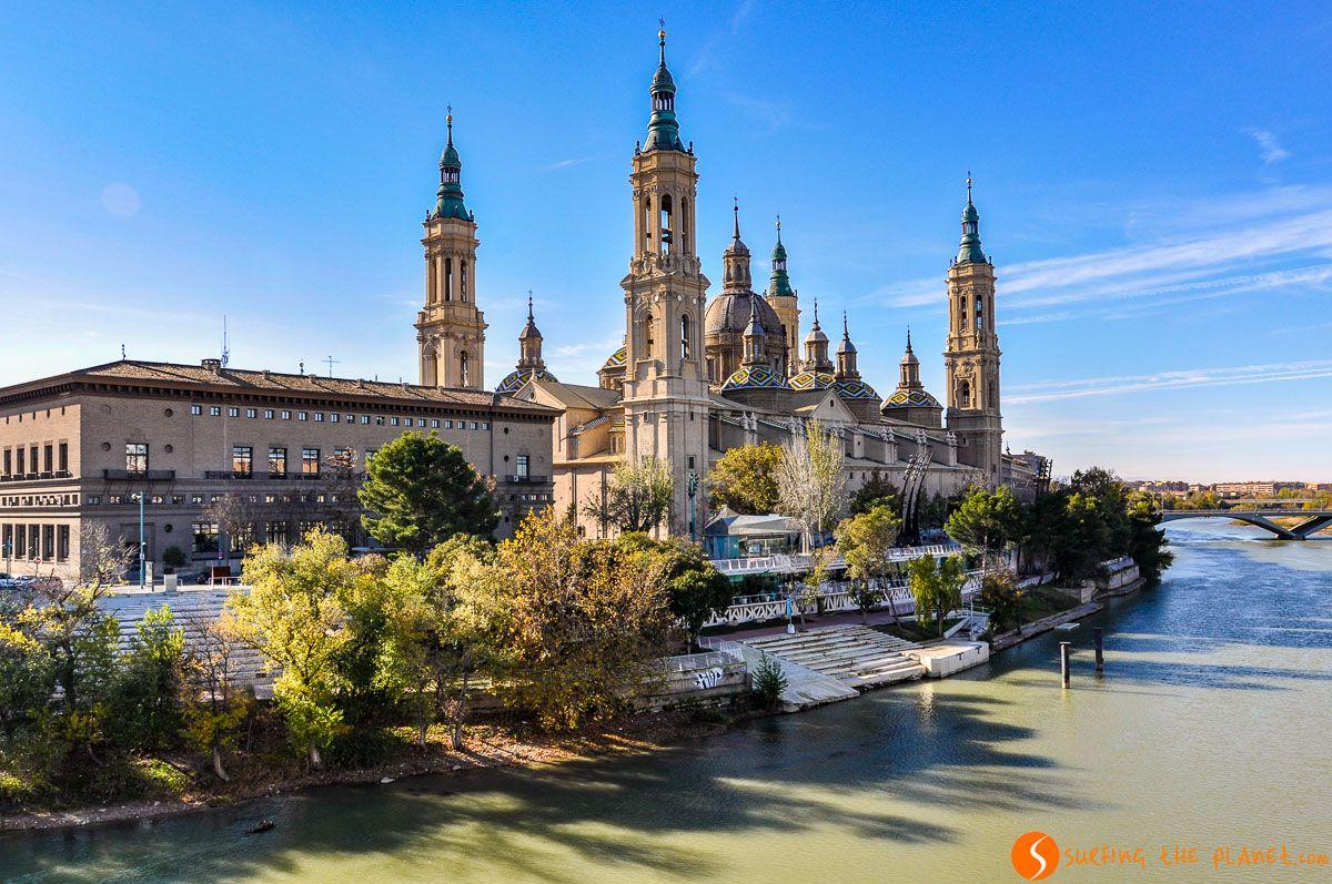Catedral de la Pilar con el Ebro, Zaragoza, Aragón | Qué ver y hacer en la Provincia de Zaragoza