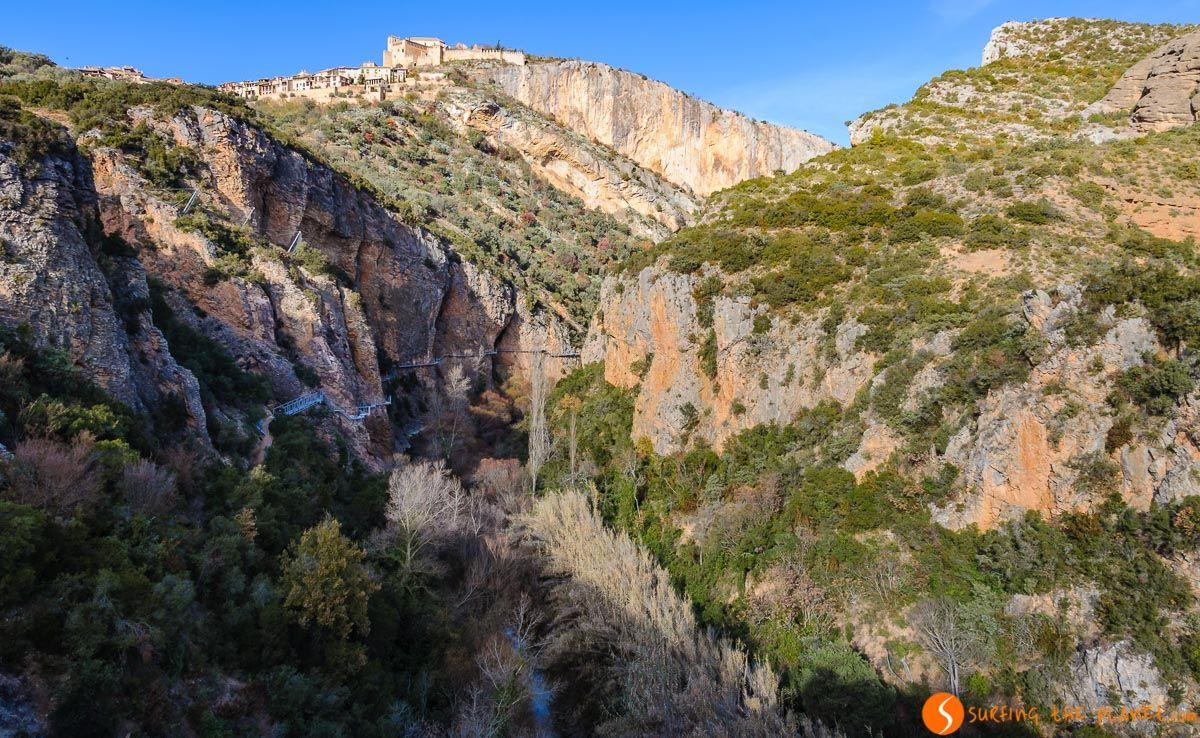 Pasarelas del río Vero, Alquézar, Huesca, Aragón