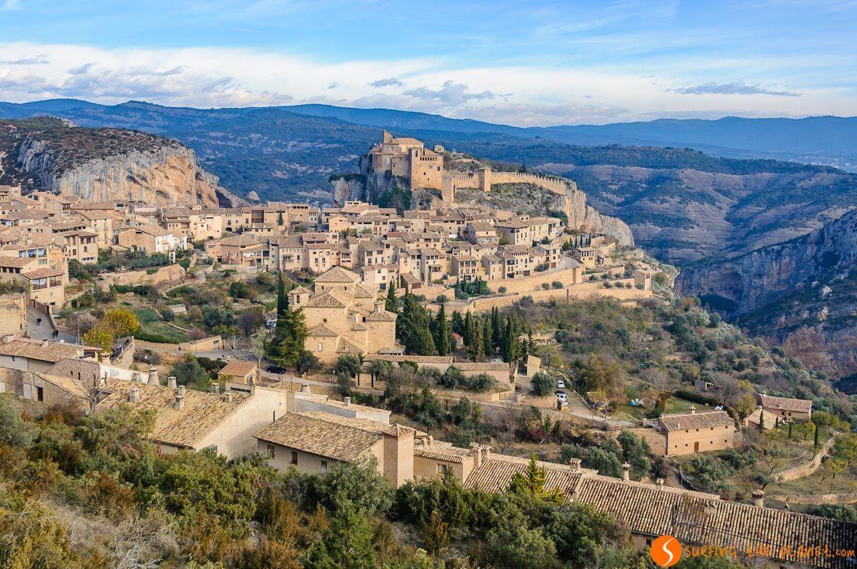 Vista panorámica, Alquézar, Huesca, Aragón
