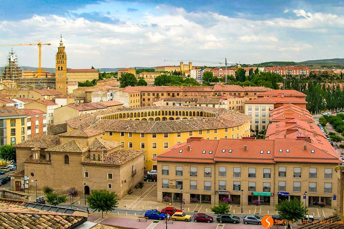 Vistas panorámicas con el Arena de Toros, Tarazona, Zaragoza, Aragón