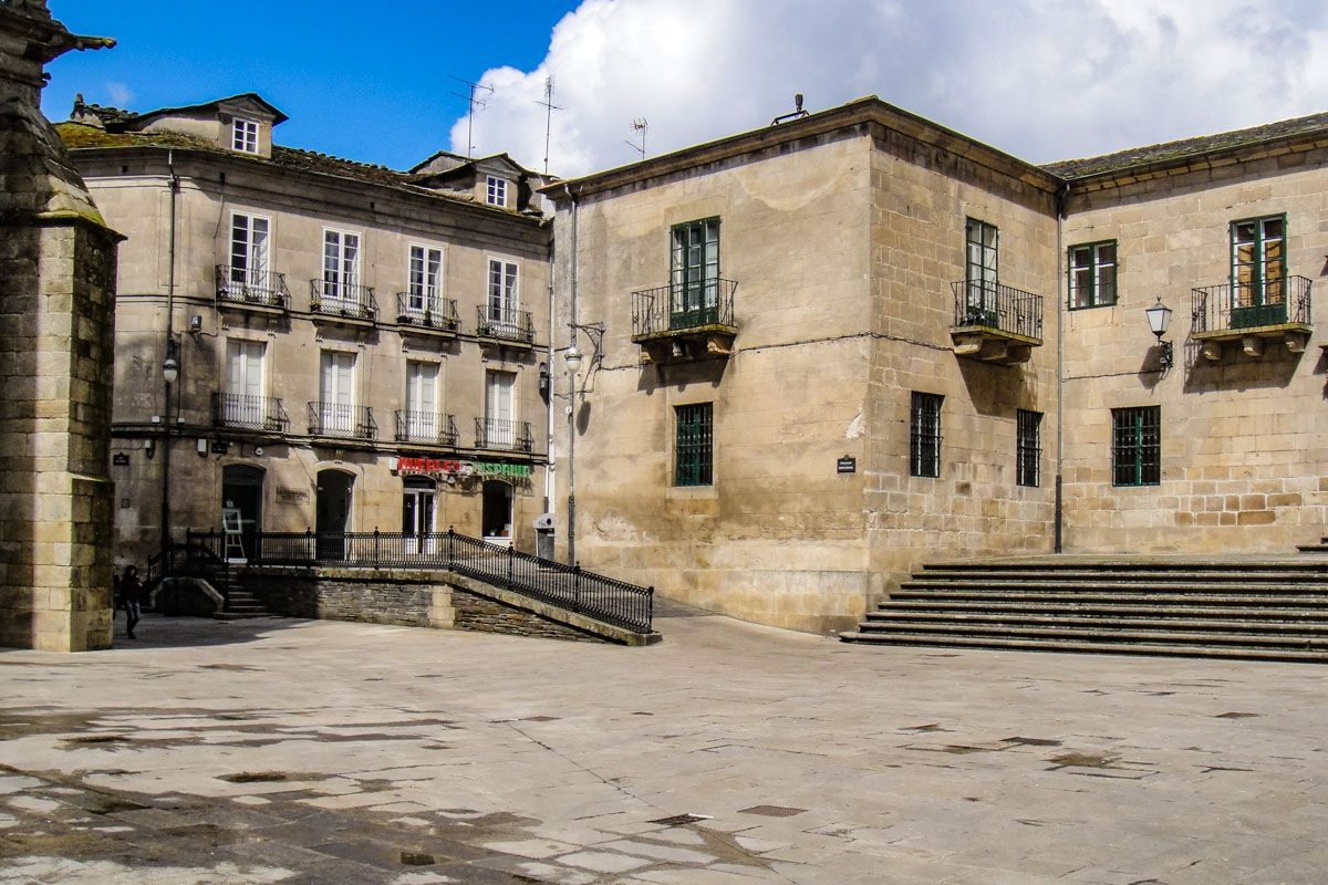 Plaza Santa María, Lugo, Galicia