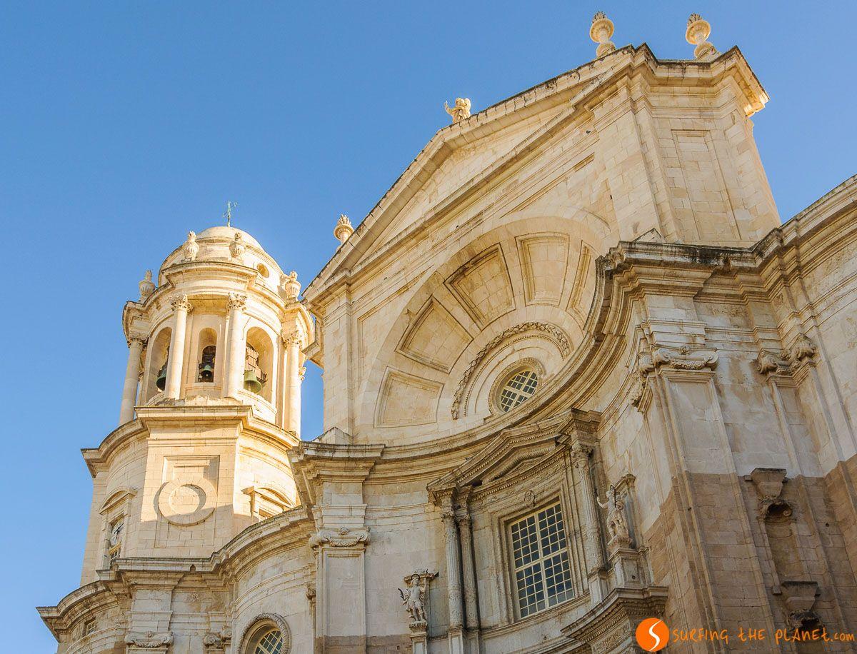 Fachada de la Catedral Nueva de Cádiz, Andalucía