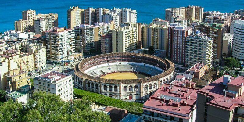 Vistas de la ciudad desde el cerro, Málaga, Andalucía