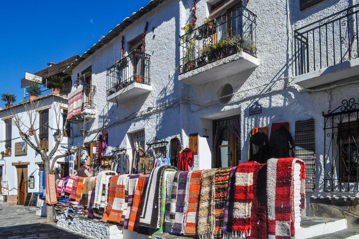 Casas blancas de Pampaneira, Granada, Andalucía