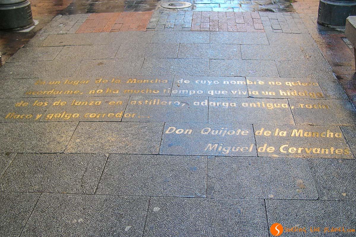 Frase Cervantes, Barrio de las Letras, Madrid, España