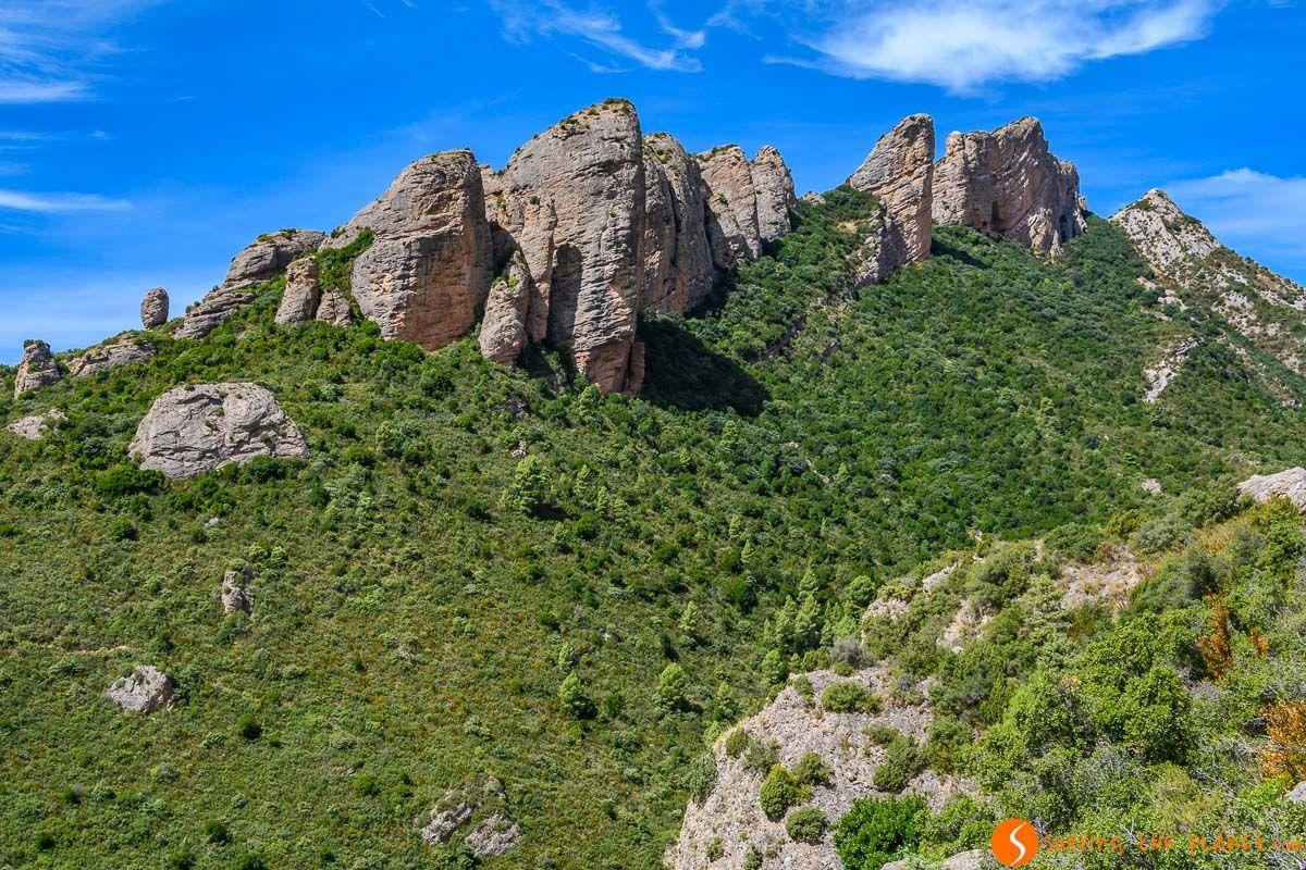 Formaciones rocosas, Mallos de Agüero, Huesca, Aragón